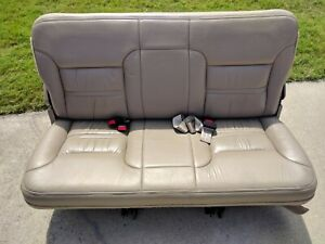 Ford Excursion Tan Limited Third 3rd Row Leather Seat Rear Excellent Condition