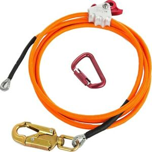 Steel Wire Core Flip Line Kit Adjustable Climbing Positioning Rope For Arborists