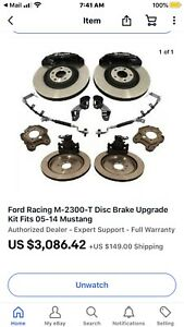 2013 14 Ford Shelby Gt500 Six Piston 15 Brembo Brake Kit M 2300 t Fits Gt Boss