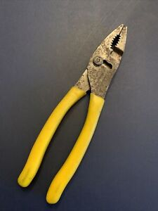 Snap On Yellow 47acf 8 Combination Slip Joint Pliers