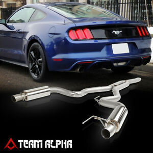 Fits 2015 2018 Ford Mustang Ecoboost 2 3 Turbo 3 Dual Muffler Catback Exhaust