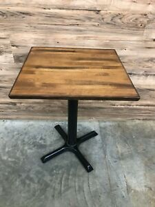 Premium Solid Wood Butcher Block Square Restaurant Table 24 X 24