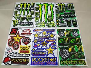 6 Rockstar Energy Motogp Decal Motorcycle Motorcross Metal Mulish Racing Sticker