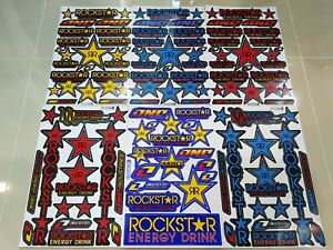 6 Rockstar Energy Motogp Taper Atv Decal Motorcycle Motorcross Racing Stickers