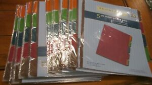 Lot Of 26 Bridgeport 3 ring Binder Index Dividers W 5 Multicolored Tabs