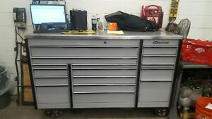 Snap On Krl Tool Box Triple Bank With Stainless Top Artic Grey