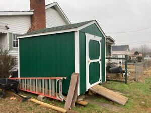 8x10 Storage Building Excellent Condition And Less Than One Year Old