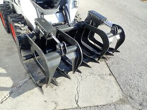 New Bobcat 72 Root Grapple For Skid Steer Loaders Ssl Quick Attach