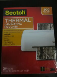 3m Letter Size Thermal Laminating Pouches 3 Mil 8 5 X 11 200 Ct
