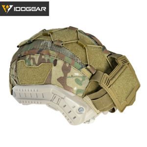 IDOGEAR Tactical Helmet Cover For Maritime HAirsoft with NVG Battery Pouch Camo $24.21