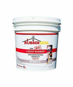 Rubberseal Liquid Rubber Waterproofing And Protective Coating Roll On White