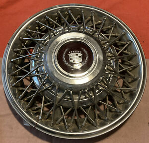 1981 1982 83 84 1985 Cadillac Eldorado Seville 15 Wire Spoke Hubcap Wheel Cover
