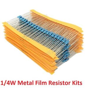 1 4w 0 25w Metal Film Resistors Kit 1 Electronics Component Classification Kit