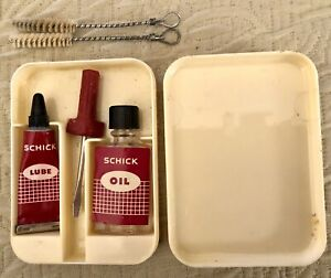 SCHICK Electric Shaver vintage lube kit lube oil brush screwdriver in case $5.00