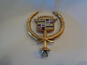 Vintage 1980s Cadillac Gold Hood Ornament Free Shipping