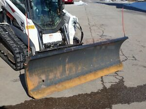 2013 Bobcat 84 Snow Blade For Skid Steer Loaders Hyd Angle Ssl Quick Attach