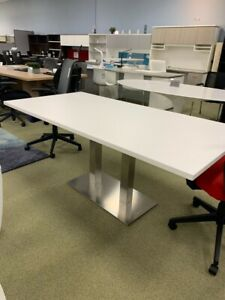 6 Ft Foot Modern Conference Table With Metal Legs