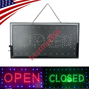Ultra Bright Led Neon Open Closed Light Business Sign Animated Motion Display
