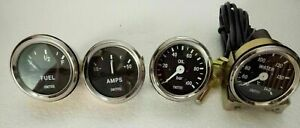 Smiths Replica 52 Mm 2 1 16 temp oil Fuel Amp Gauge Kit