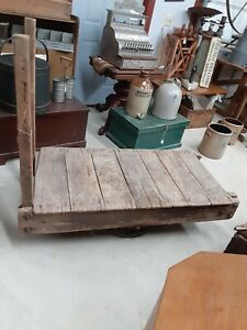 Antique Industrial Cart 52 L By 26 Wide