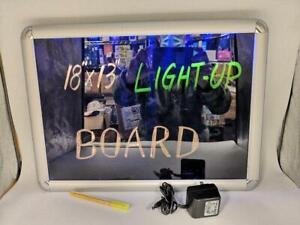 Led Light Up Writing Board Illuminated Ac dc Neon Sign Message Menu Special Us