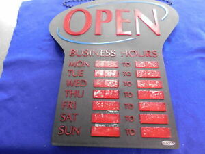 Electric Business Light Up Sign With Days Hours