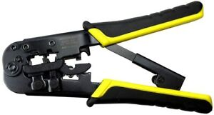 Rachet Tools Ratcheting By Klein All In One Data Cable Crimper Wire Strip Cutter