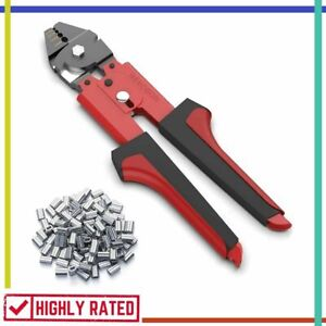 Wire Crimper Rope Cable Crimping Tool With Double Barrel Ferrule Sleeves Rekobon