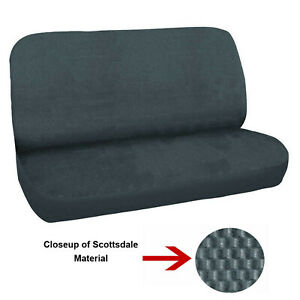 New Universal Deluxe Full Size Bench Truck Seat Cover Scottsdale Charcoal 2pc