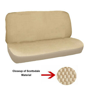 New Universal Deluxe Full Size Bench Truck Seat Cover Scottsdale Beige 2pc