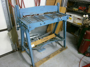 Sheet Metal Jump Shear Peck Stowe Wilcox 32 Used But In Good Condition