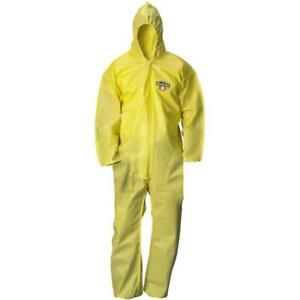 Lakeland Coverall Tychem Qc Zipper Attached Hood Elastic Wrist ankle Yellow 25 c