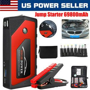 69800mah Led Car Jump Starter 4 Usb Battery Power Bank Charger Booster 12v Usa