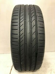 High Tread Used Tire 1 225 40r19 Continental Contipro Contact Ssr