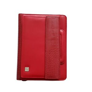 Franklin Covey 365 Red Zip Monthly weekly Organizer Planner Binder Not Dated