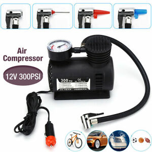 12v Electric Car Tyre Inflator 300psi Heavy Duty Powerful Air Compressor Pump Us