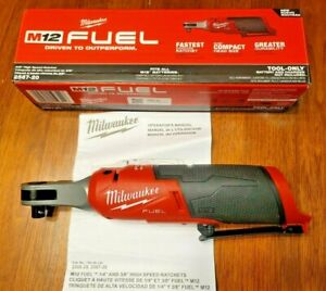 Milwaukee M12 Fuel 3 8 Dr High Speed Compact Head Ratchet Tool Only 2567 20