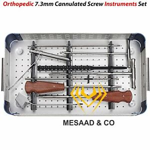 Orthopedic 7 3 Mm Cannulated Screw Instruments Sets In A Box By Mesaad