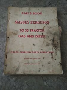 Massey Ferguson To 35 Tractor Gas And Diesel Original Parts Catalog Manual