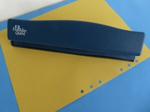 Compact Size Franklin Covey quest 6 Hole Punch For Binder planner Blue