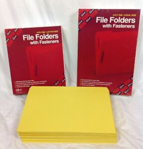 Lot Of Smead File Folders W fasteners Legal Letter Size Straight Cut Folders