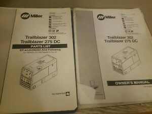 Miller Trailblazer 302 Owners Manual Parts List 275 Dc