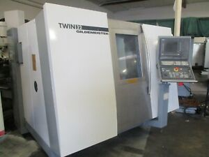 2001 Gildemeister Twin 32 Twin Spindle 2 Turrets 2 Y axis Spindles Live Tools