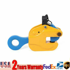 3 Tons Heavy Duty Vertical Plate Lifting Clamp Industrial Steel W Lock Usa Sale