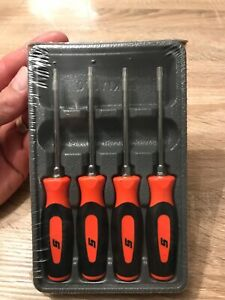 Snap On Mini Torx Set In Tray T8 t10 t15 t20 In Orange New