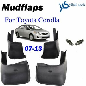 Front Rear Mud Flaps Splash Guards Mudguards For Toyota Corolla Altis 2009 2013