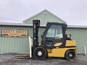2008 Yale Glc080vx Forklift Enclosed Cab 8000lb Lift 185 Reach Cheap Shipping