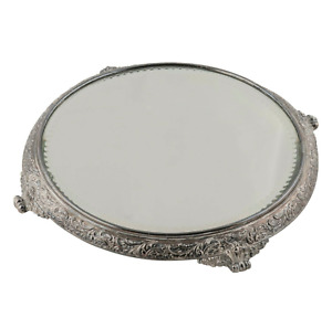 English Style Silver Plated Mirrored Plateau