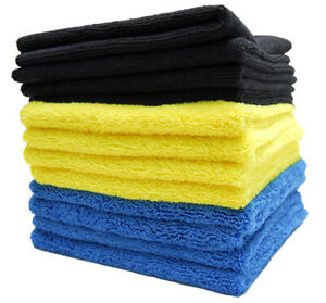 Cobra Color coded Microfiber Bulk Detailing Towels 12 Pack Cobra 416 12