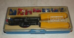 Vintage Sears Automotive Electrical Repair Kit Approx 60 Pcs W Crimping Tool